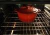 Pot heating in the oven | Panela pre-aquecendo